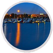 Cleveland Ohio Skyline Round Beach Towel