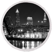 Cleveland Shining Bright Round Beach Towel