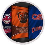Cleveland Sports Teams Round Beach Towel