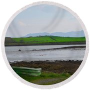 Clew Bay County Mayo Ireland Round Beach Towel