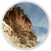 Cliff Dwellings Round Beach Towel