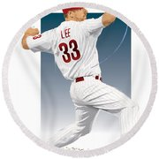 Cliff Lee Round Beach Towel