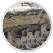 Cliff Palace Overview Round Beach Towel