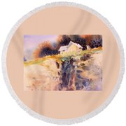 Cliffhanger Round Beach Towel