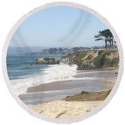 Santa Cruz Cliffline  Round Beach Towel