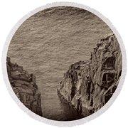 Cliffs At Bonavista Round Beach Towel
