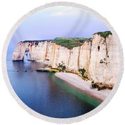Cliffs Of Etretat 3 Round Beach Towel
