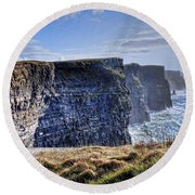 Cliffs Of Moher - Late Afternoon Round Beach Towel