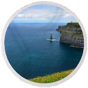 Cliffs Of Moher Looking North Round Beach Towel