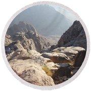 Cliffs Of Mount Sinai Round Beach Towel