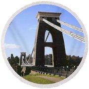 Clifton Suspension Bridge Bristol Round Beach Towel