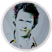 Clint Eastwood 2 Round Beach Towel