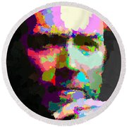Clint Eastwood - Abstract Round Beach Towel