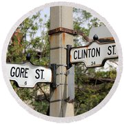 Clinton And Gore Round Beach Towel