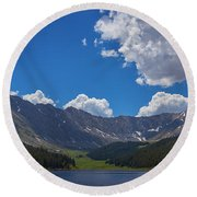 Clinton Gulch Summer Round Beach Towel