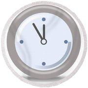 Clock Five Mintures Before Twelve Round Beach Towel