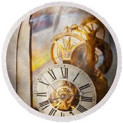 Clockmaker - A Look Back In Time Round Beach Towel
