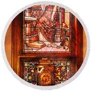 Clockmaker - An Ornate Clock Round Beach Towel