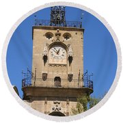 Clocktower - Aix En Provence Round Beach Towel