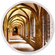 Cloister Arches Round Beach Towel