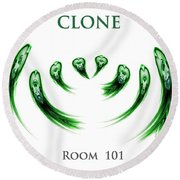Clone Room 101 Round Beach Towel