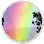 Close To The Pot Of Gold Round Beach Towel