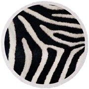 Close-up Of Greveys Zebra Stripes Round Beach Towel
