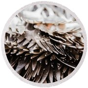 Close Up Of Heap Of Silver Forks Round Beach Towel