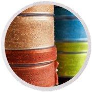 Cloth Ribbons Round Beach Towel