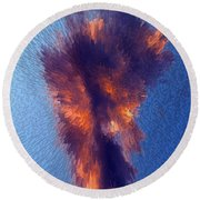 Cloud Above Sin City Round Beach Towel