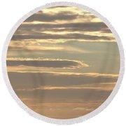 Cloud Abstract II Round Beach Towel