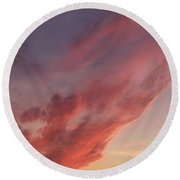 Cloud At Sunset  Round Beach Towel