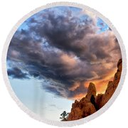 Cloud Explosion Round Beach Towel