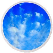 Cloud Formations I Round Beach Towel