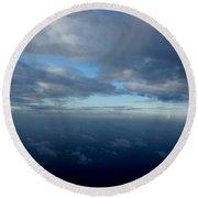 Cloud Horizon Round Beach Towel