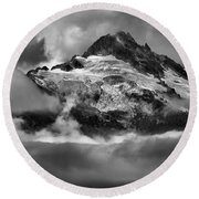 Cloud Layers Over Tantalus Round Beach Towel