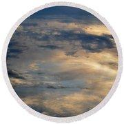 Cloud Reflection Round Beach Towel