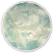 Cloud Series 1 Of 6 Round Beach Towel by Brett Pfister