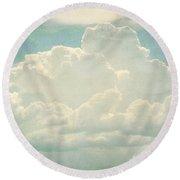 Cloud Series 2 Of 6 Round Beach Towel