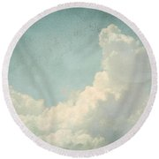 Cloud Series 4 Of 6 Round Beach Towel by Brett Pfister