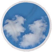 Cloud Shapes Round Beach Towel
