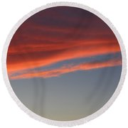 Cloud Round Beach Towel