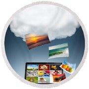 Cloud Technology Round Beach Towel
