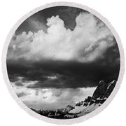 Cloudbreak Round Beach Towel