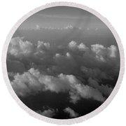 Cloudcaps Round Beach Towel
