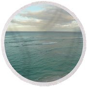 Clouded Sea Round Beach Towel