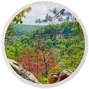 Cloudland Canyon State Park Georgia Round Beach Towel