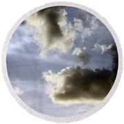 Clouds 1 Round Beach Towel