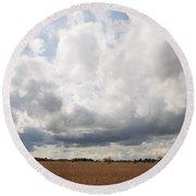 Clouds Abound Round Beach Towel