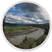 Clouds Above Eel River Round Beach Towel